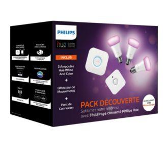 Philips Hue pack démarrage E27 V2+ Pont+ Sensor