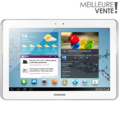 Tablette multimédia android SAMSUNG Galaxy Tab 2 10.1'' blanc 16Go