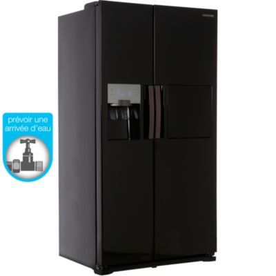 frigo americain noir votre recherche frigo americain. Black Bedroom Furniture Sets. Home Design Ideas