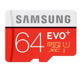 Samsung Micro SD 64Go EVO PLUS classe 10 + adapt