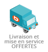 Livraison + mise en service <b>offert</b>