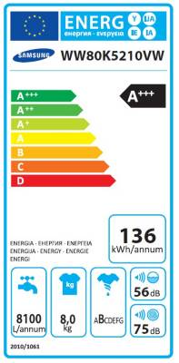 Samsung ADD WASH WW80K5210VW Lave-linge hublot  fdbb85c650