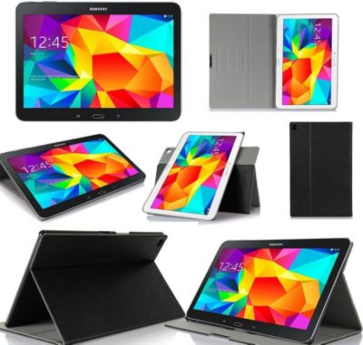 protection tablette xeptio samsung galaxy tab 4 10 1 noir. Black Bedroom Furniture Sets. Home Design Ideas