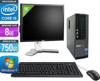 dell optiplex 790 sff ecran 19 39 39 reconditionn comme neuf ordinateur de bureau. Black Bedroom Furniture Sets. Home Design Ideas