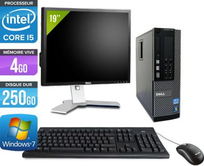 dell optiplex 7010 sff ecran 19 39 39 reconditionn comme neuf ordinateur de bureau. Black Bedroom Furniture Sets. Home Design Ideas