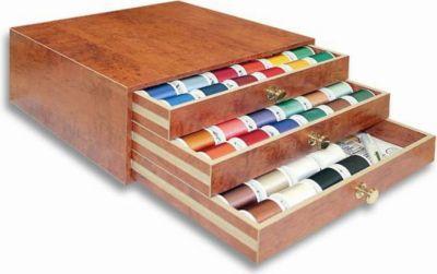 Coffret tr sor madeira bois 194 bobines accessoire for Coffret couture avec accessoires