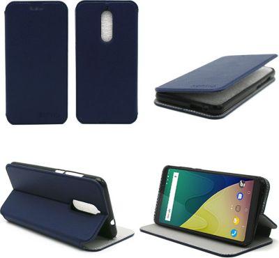 xeptio wiko view prime bleu avec stand coque etui smartphone boulanger. Black Bedroom Furniture Sets. Home Design Ideas