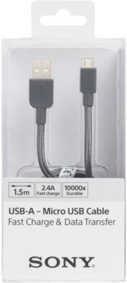 Câble Micro usb sony 1.5m gris nylon
