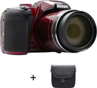 Appareil photo Bridge Nikon B700 Rouge + Etui