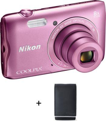 Nikon coolpix a300 rose etui appareil photo compact - Appareil photo compact boulanger ...