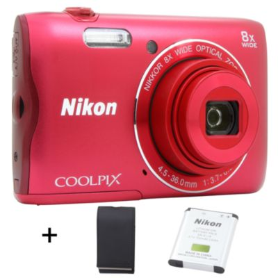 nikon coolpix a300 rouge etui appareil photo compact. Black Bedroom Furniture Sets. Home Design Ideas