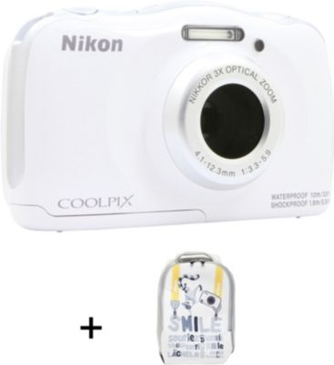Appareil Photo compact nikon coolpix w100 blanc + sac à dos