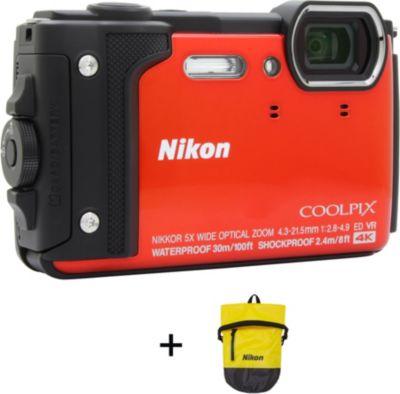 Appareil photo Compact Nikon Coolpix W300 Orange + Sac...