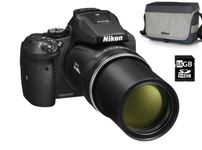 Appareil Photo bridge nikon pack p900 noir + etui premium + sd 16go