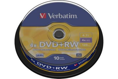 verbatim dvd rw 4 7gb 10pj p10 spindle 4x blu ray dvd cd vierge boulanger. Black Bedroom Furniture Sets. Home Design Ideas