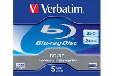 Blu-Ray Vierge verbatim bd-re 25go 5pk p5 boitier jewel 2x