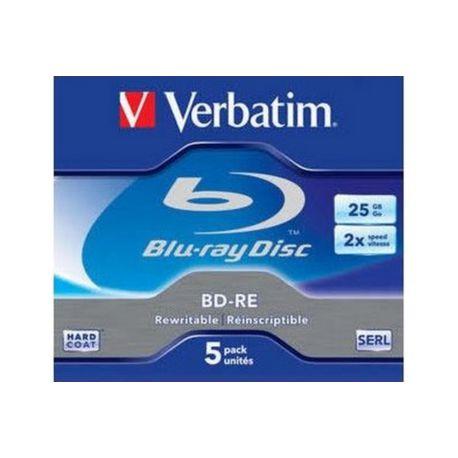 Blu-Ray Disc VERBATIM BD-RE 25GO 5PK P5 boitier Jewel 2x