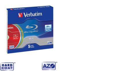 Blu-Ray Vierge verbatim bd-r pack jewel case 6x25gb