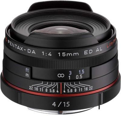 Objectif pour Reflex Pentax HD DA 15mm f/4 noir ED AL Limited