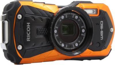 Appareil photo Compact Ricoh WG-50 orange + Dragonne flottante
