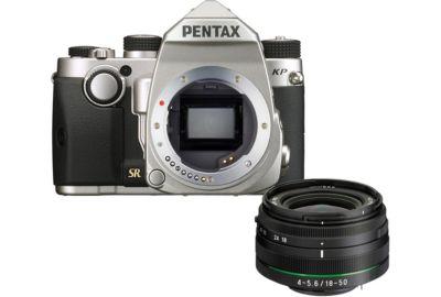 Reflex PENTAX KP silver + 18-50mm