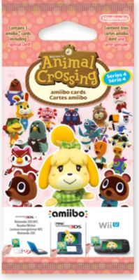 Pack Cartes amiibo nintendo 3 cartes animal crossing hdd série 4