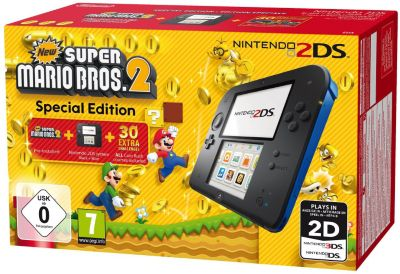 Console 2ds nintendo noire/bleue + new super mario bros 2