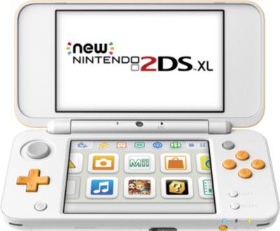 Console New 2DS XL Nintendo Blanche et Orange