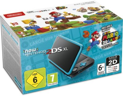 Console New 2DS XL Nintendo New 2DS XL Noire + Super Mario 3D Land