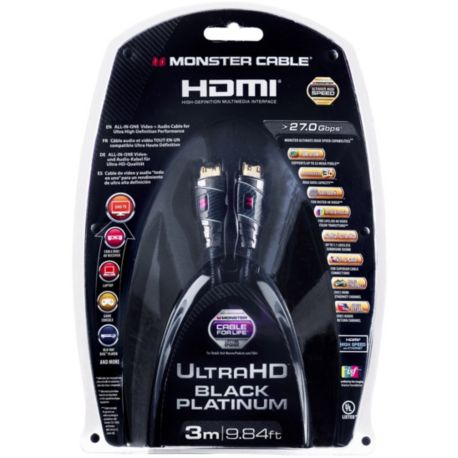 Câble HDMI MONSTERCABLE UHD 3M 27Gbps