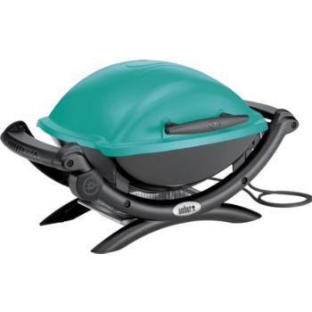 barbecue lectrique weber q 1400 lectrique teal blue weber. Black Bedroom Furniture Sets. Home Design Ideas