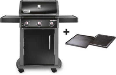 weber spirit original e 310 black plancha barbecue gaz. Black Bedroom Furniture Sets. Home Design Ideas