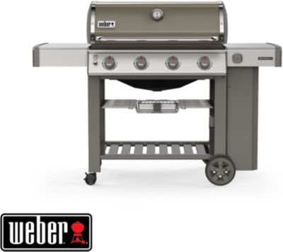 Photo de barbecue-gaz-weber-genesis-ii-e-410-gbs-plancha-smoke-grey