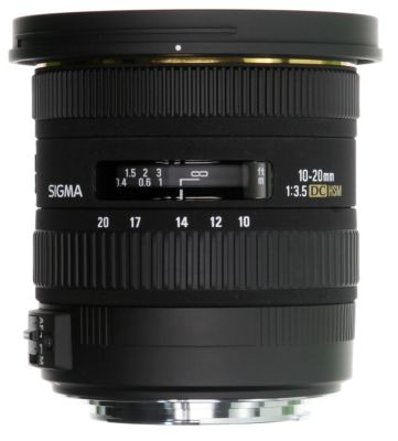 Objectif pour Reflex Sigma 10-20mm f/3,5 DC EX HSM Pentax