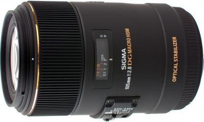 Objectif pour Reflex Plein Format Sigma 105mm f/2.8 Macro EX DG OS HSM Nikon
