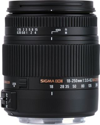 Objectif pour Reflex Sigma 18-250mm f/3.5-6.3 Macro DC OS HSM Canon