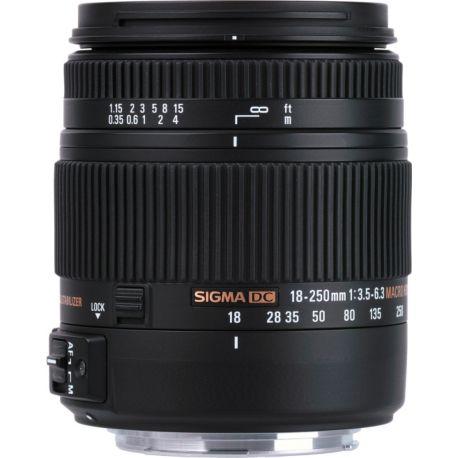 Objectif SIGMA 18-250mm f/3.5-6.3 Macro DC OS HSM Canon