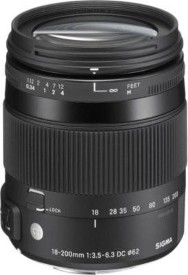 Objectif pour Reflex Sigma 18-200mm f/3.5-6.3 Macro DC OS HSM Canon