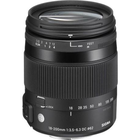Objectif SIGMA 18-200mm f/3.5-6.3 Macro DC OS HSM Canon