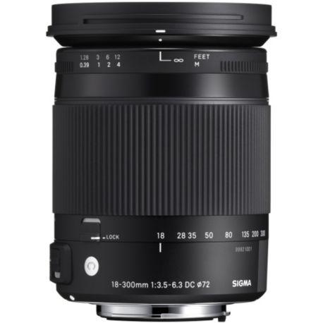 Objectif SIGMA 18-300mm f/3.5-6.3 Macro DC OS HSM Canon