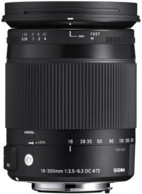 Objectif pour Reflex Sigma 18-300mm f/3.5-6.3 Macro DC OS HSM Nikon