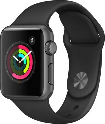 Montre Connectée apple watch 38mm alu gris sidéral / noir series 1