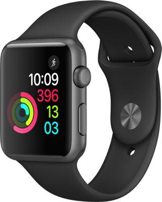 Montre Connectée apple watch 42mm alu gris sidéral / noir series 1