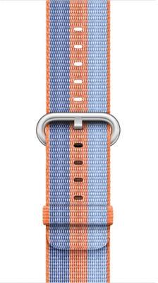 Bracelet Apple Nylon tissé Orange 42mm