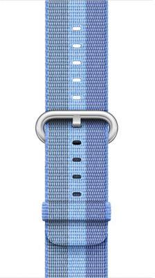 Bracelet Apple Nylon tissé Bleu Tahoe 42mm