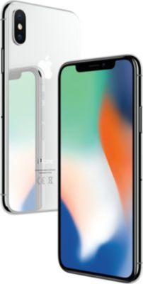 Smartphone Apple iPhone X Argent 256 GO + Coque Apple iPhone X cuir noir