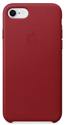 Coque Apple iPhone 7/8 cuir (PRODUCT)RED