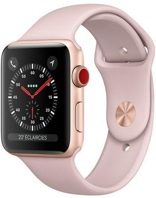 Montre Connectée apple watch 38mm alu rose/rose series 3 cell