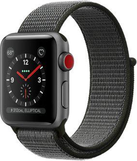 Montre Connectée apple watch 38mm alu gris/boucle olive series 3 cell