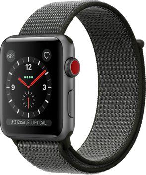 Montre Connectée apple watch 42mm alu gris/boucle olive series 3 cell